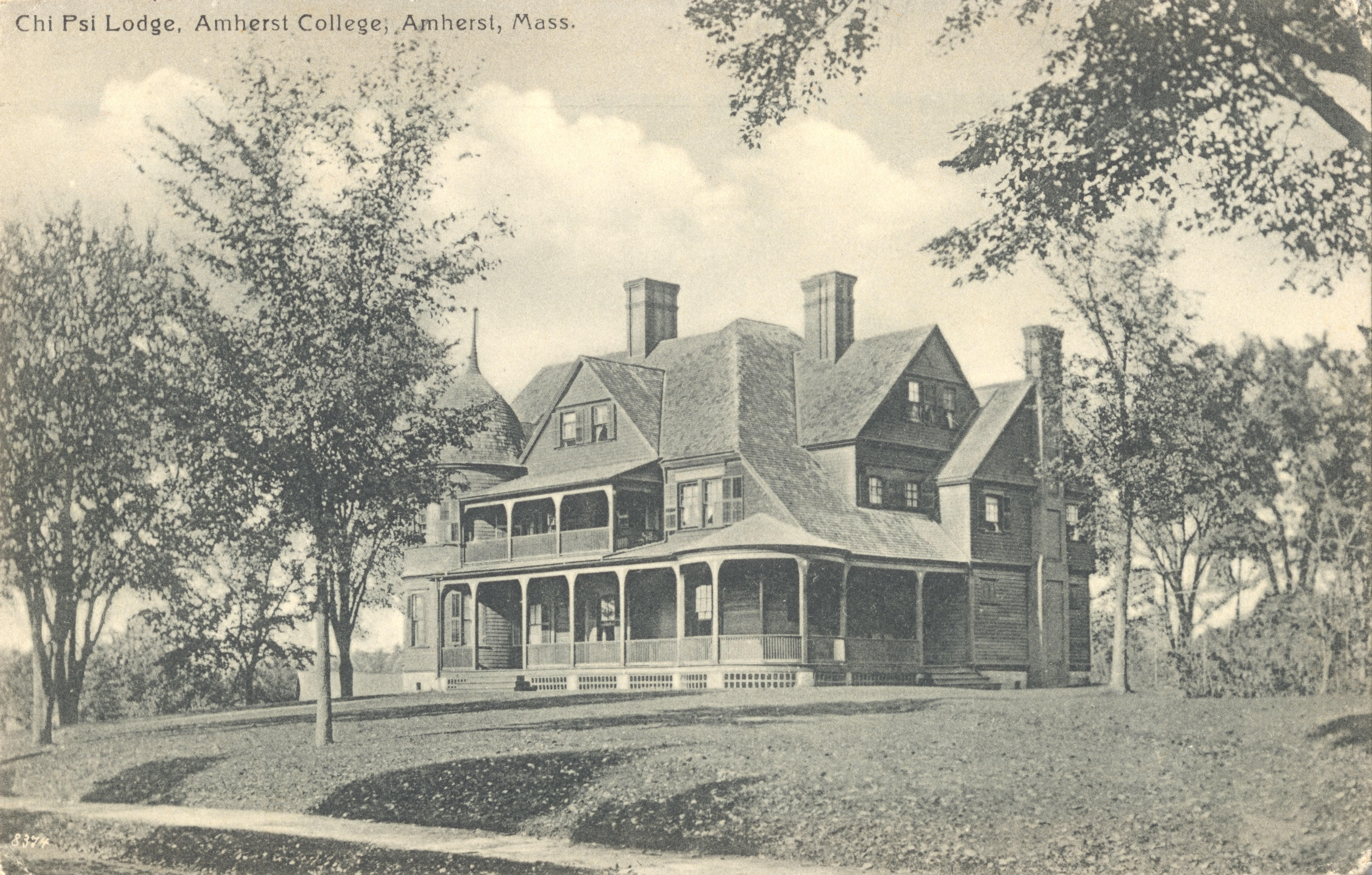 amherst college postcards 1910 1919 frederick s lane