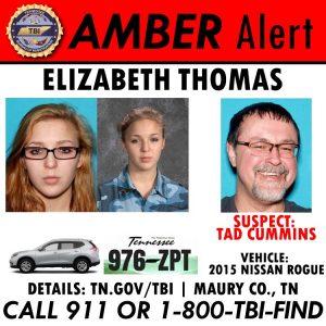 Amber Alert for Elizabeth Thomas