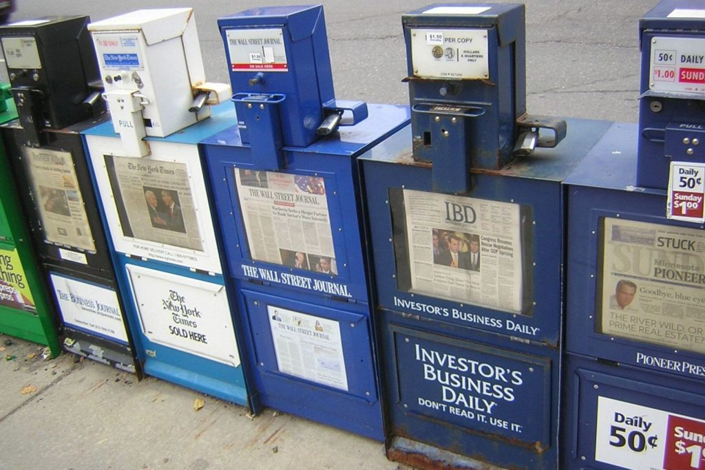 Newspapers [Wikimedia Commons]
