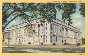 Postcard Showing the U.S. Department of Justice (from the Collection of Frederick Lane)