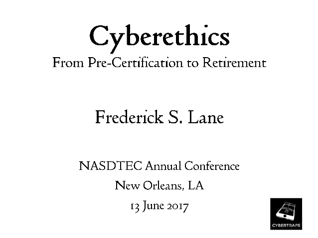 Updated] Cyberethics from Pre-Certification to Retirement [Lecture ...