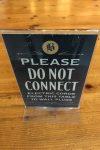 Warning Sign, Balzac's Reference Library, Toronto, Canada
