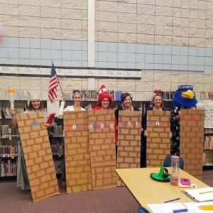 Middleton School District (ID) Teachers Dressed Up as a Border Wall