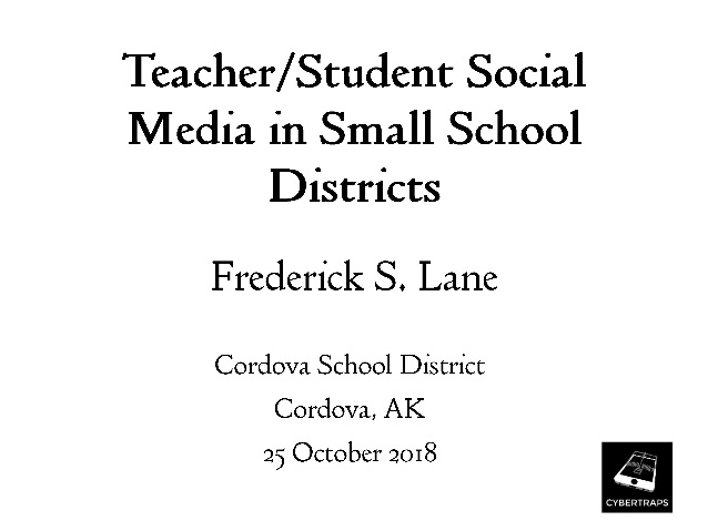 Teacher/Student Social Media in Small School Districts