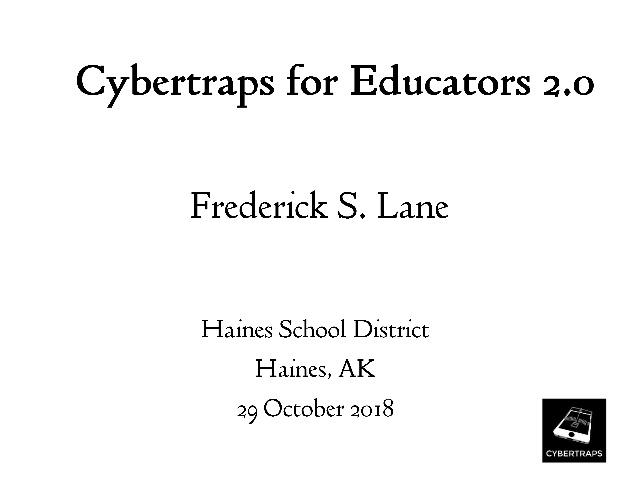 Cybertraps for Educators 2.0